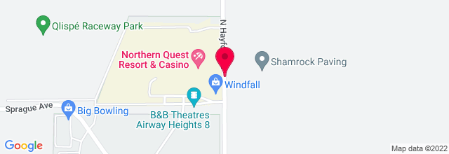 Map for Northern Quest Resort and Casino