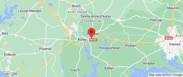 Carte Google Map de la vile de Pluneret