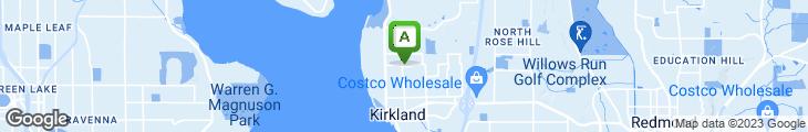 Map of Lakeshore Veggie House