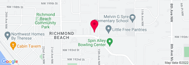 Map for Richmond Beach United Church of Christ