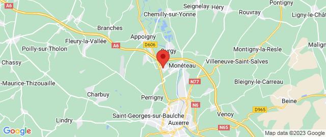 Carte Google Map de la vile de Monéteau