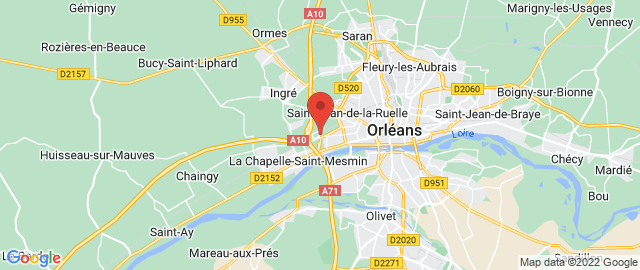 Carte Google Map de la vile de Ingré