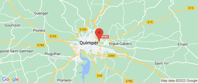 Carte Google Map de la vile de Quimper