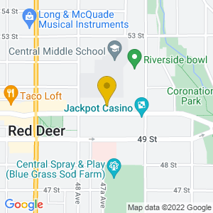 Map to Slumland Theater provided by Google