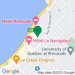 Localisation de la succursale de Valeurs mobilières Desjardins au Rimouski sur la carte Google