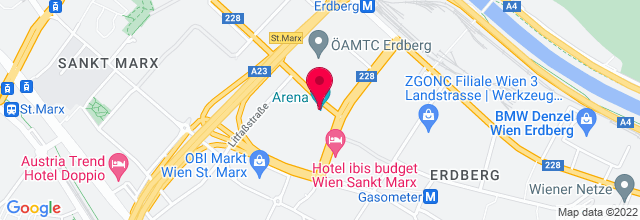 Map for Vienna Arena