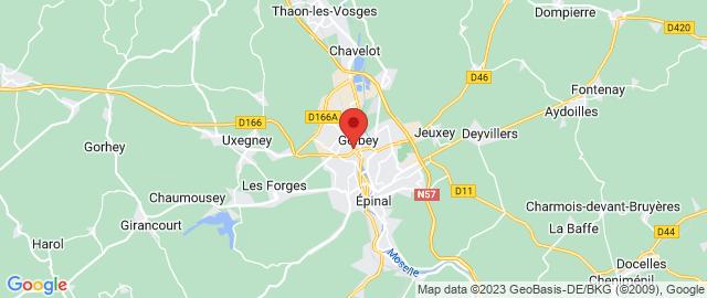 Carte Google Map de la vile de Golbey