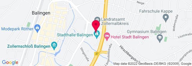 Map for Stadthalle Balingen