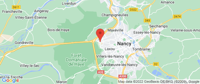 Carte Google Map de la vile de Laxou
