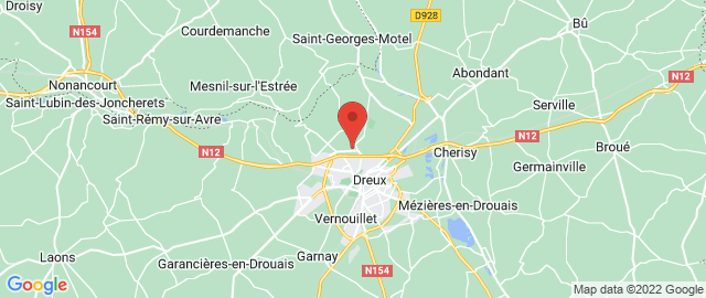 Carte Google Map de la vile de Dreux