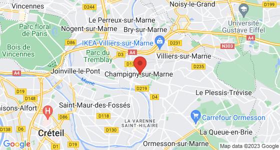 Plan champigny-sur-marne val-de-marne