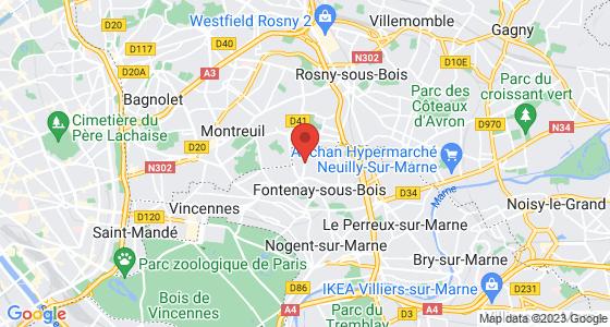 Plan fontenay-sous-bois val-de-marne