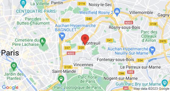 Plan montreuil seine-saint-denis