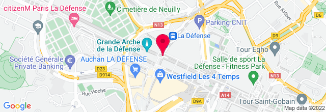 Map for La Defense