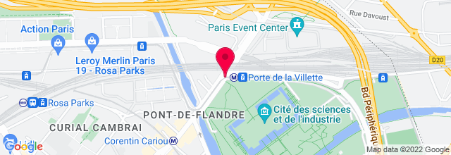 Map for La Geode - La Villette