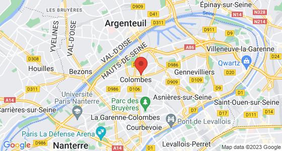 Plan colombes hauts-de-seine
