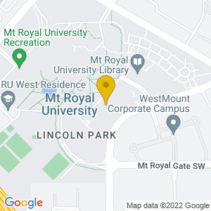 Map to Bella Concert Hall - Mt Royal University provided by Google