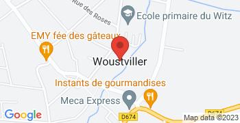 Woustviller - Google Map Karte