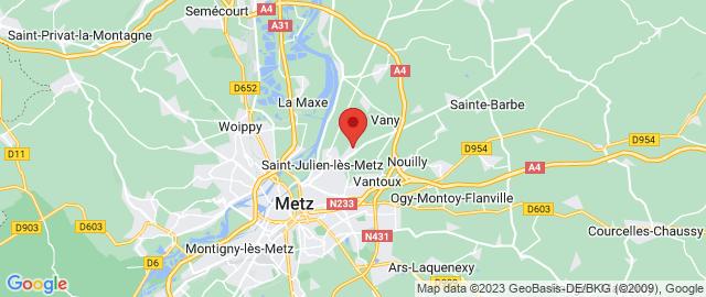 Carte Google Map de la vile de Saint-Julien-lès-Metz