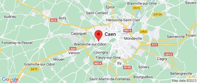 Carte Google Map de la vile de Caen