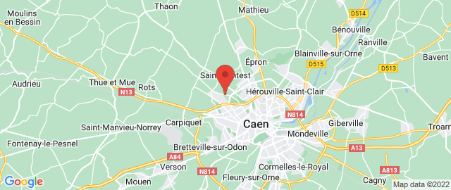 Carte Google Map de la vile de Saint-Contest