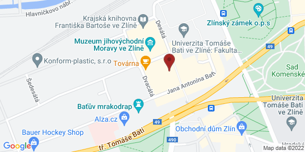 Google Map of Vavrečkova 7074, 760 01 Zlín