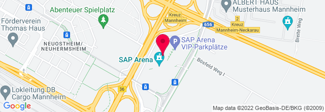 Map for SAP Arena