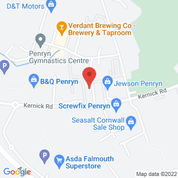 B&Q Mini Warehouse Falmouth Location on map