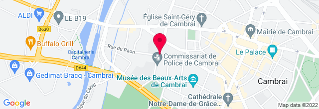 Map for Garage Café à Cambrai