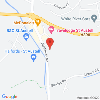 Halfords St Austell Location on map