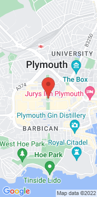 Map showing the location of the Plymouth Centre monitoring site