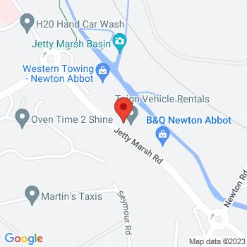 B&Q Supercentre Newton Abbot Location on map