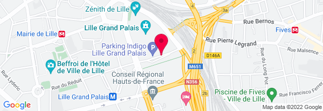 Map for Zénith Grand Arena Lille
