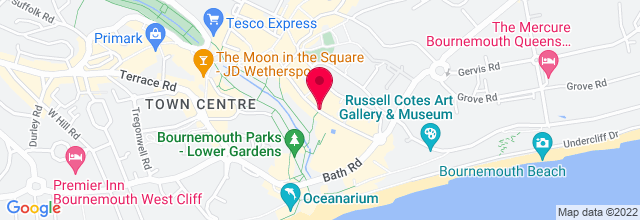 Map for Pavilion Theatre, Bournemouth International Center