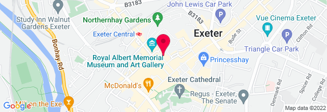 Map for Exeter Phoenix