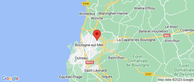 Carte Google Map de la vile de Saint-Martin-Boulogne