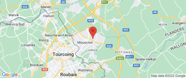 Carte Google Map de la vile de Mouscron