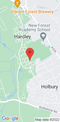 Map showing the location of the New Forest - Holbury [Closed] monitoring site