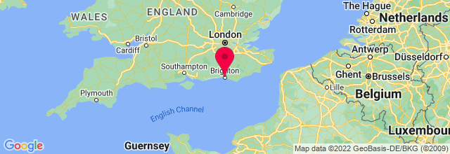 Map of Brighton, UK