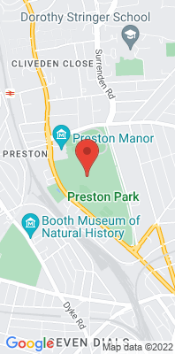 Map showing the location of the Brighton Preston Park monitoring site