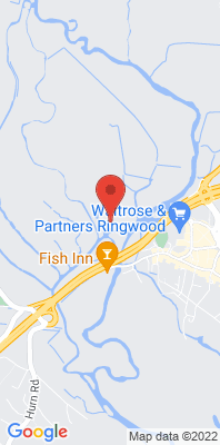 Map showing the location of the New Forest - Ringwood [Closed] monitoring site