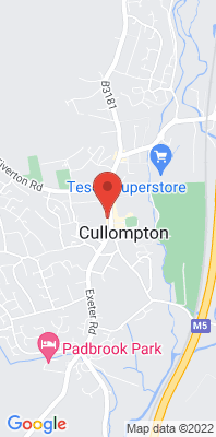 Map showing the location of the Cullompton - The Little Bakery, Fore Street monitoring site