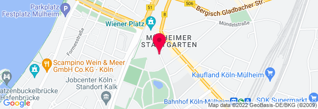Map for Stadthalle Köln Mülheim