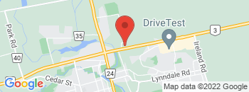 Google Map of 51+Queensway+East%2CSimcoe%2COntario+N3Y+4M5