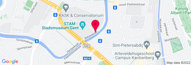 Map for De Bijloke
