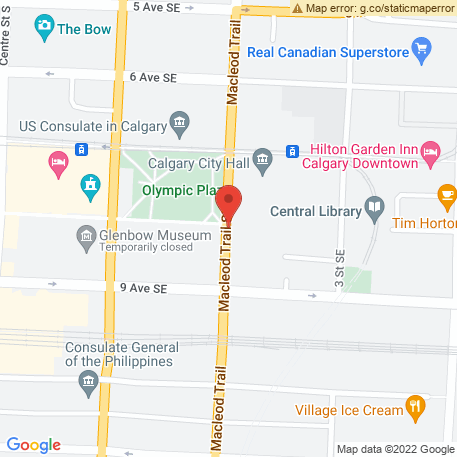 CBW Resource Consultants on Map (CBW Resource Consultants Head Office: Calgary, AB) Map