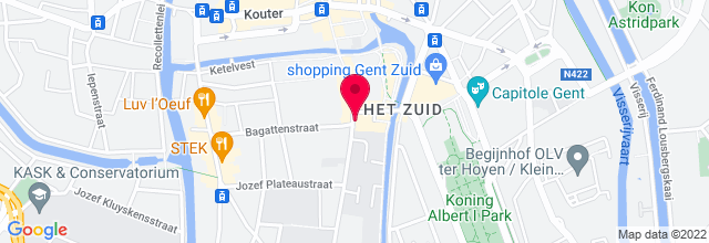 Map for Vooruit Concertzaal