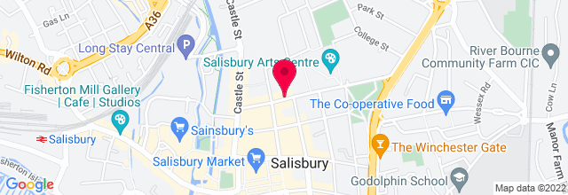 Map for Salisbury Arts Centre