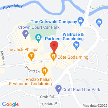 Halfords Godalming Location on map