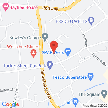 Halfords Wells Location on map